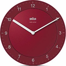 Braun Wall Clock, red, Normal