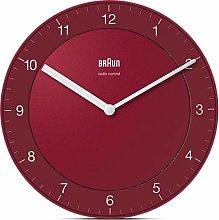 Braun Wall Clock, red, Normal