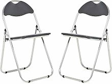 Bravich 2X Black Padded Folding Chair |