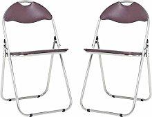 Bravich 2X Brown Padded Folding Chair |
