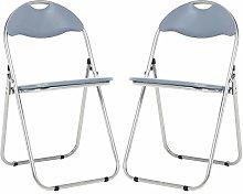 Bravich 2X Grey Padded Folding Chair | Comfortable