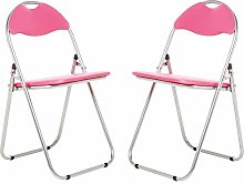 Bravich 2X Pink Padded Folding Chair | Comfortable