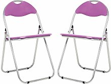 Bravich 2X Purple Padded Folding Chair |