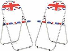 Bravich 2X Union Jack Padded Folding Chair |