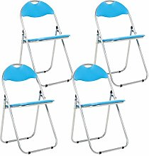 Bravich 4X Blue Padded Folding Chair | Comfortable
