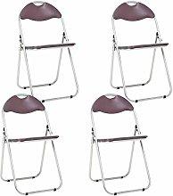 Bravich 4X Brown Padded Folding Chair |