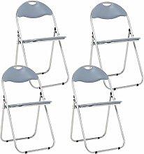 Bravich 4X Grey Padded Folding Chair | Comfortable
