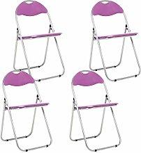 Bravich 4X Purple Padded Folding Chair |