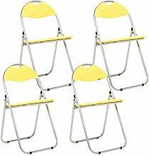 Bravich 4X Yellow Padded Folding Chair |