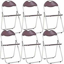 Bravich 6X Brown Padded Folding Chair |