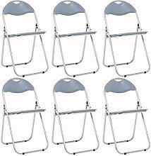 Bravich 6X Grey Padded Folding Chair | Comfortable