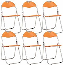 Bravich 6X Orange Padded Folding Chair |