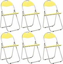 Bravich 6X Yellow Padded Folding Chair |