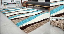 Bravich Extra Large Beige Brown Teal Blue and