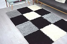 Bravich Extra Large Grey Black and Cream Checked