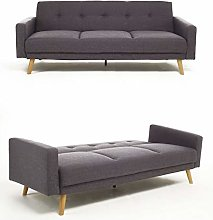 Bravich Modern 3 Seater Sofa Bed Fabric Couch
