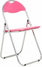 Bravich Pink Padded Folding Chair | Comfortable