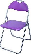 Bravich Purple Padded Folding Chair | Comfortable