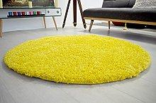 Bravich Rug, polypropylene, 120cm Circle Yellow
