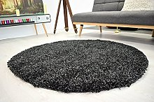 BRAVICH RugMasters Charcoal/Anthracite Circle Rug