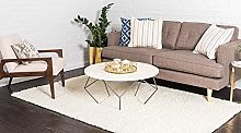 BRAVICH RugMasters Cream/Ivory Small Rug 5 cm