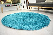 BRAVICH RugMasters Teal Blue Circle Rug 5 cm Thick