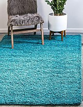 BRAVICH RugMasters Teal Blue Large Rug 5 cm Thick