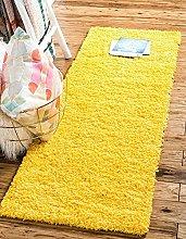 BRAVICH RugMasters Yellow Mustard Runner Rug 5 cm