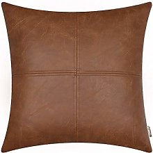 BRAWARM Brown Luxurious Faux Leather Hand Stitched