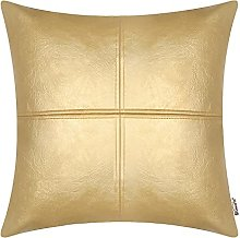 BRAWARM Gold Luxurious Faux Leather Hand Stitched