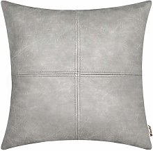 BRAWARM Gray Luxurious Faux Leather Hand Stitched