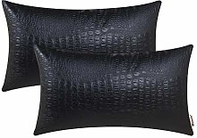 Brawarm Pack of 2 Cozy Bolster Pillow Covers Cases