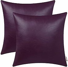 BRAWARM Pack of 2 Cozy Deep Purple Faux Leather