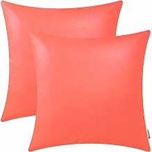 BRAWARM Pack of 2 Cozy Living Coral Faux Leather