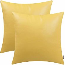 BRAWARM Pack of 2 Cozy Primrose Yellow Faux