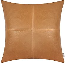 BRAWARM Tan Luxurious Faux Leather Hand Stitched