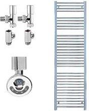 BRAY Straight Heated Towel Rail / Warmer, Chrome -