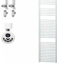 BRAY Straight Heated Towel Rail / Warmer, White -