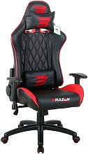 BraZen Phantom Elite PC Gaming Chair - Red