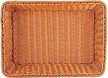 Bread Basket Rectangular Brown Weave Food Storage