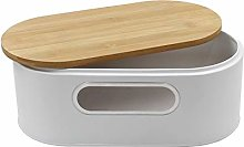 Bread Bin for The Kitchen Stainless Metal White
