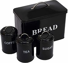 Bread Bin Loaves Storage Canister Tins and 3 Piece
