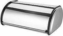 Bread Bin Roll Top Stainless Steel Silver Bread