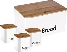 Bread Box Bread Bin with Wodden Top for Chopping