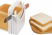 Bread Slicer, Foldable Bread Toast Slicer Bagel