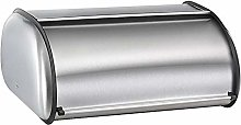 Bread Storage Box Stainless Steel, Clear Front