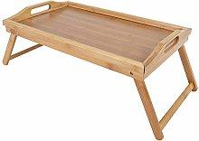 Breakfast Tray, Bamboo Folding Tea Serving Table