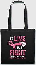Breast Cancer Survivor T Shirt Canvas Tote Bag