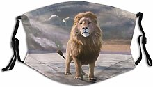 Breathable Unisex Face Protect Cover Reusable,Lion