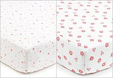 BreathableBaby Cot Sheets - Enchanted Garden
